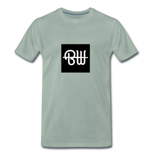BW simple logo - Mannen Premium T-shirt