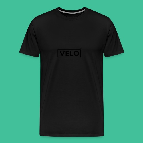 Velo Icon Blk - Long Sleeve Baseball Shirt W/N Clr - Men's Premium T-Shirt