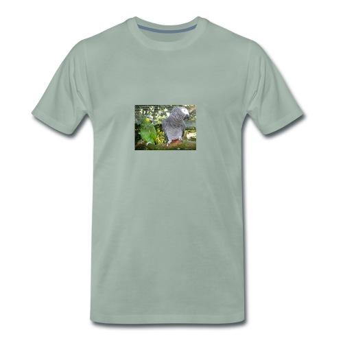 Amazone og grå - Herre premium T-shirt