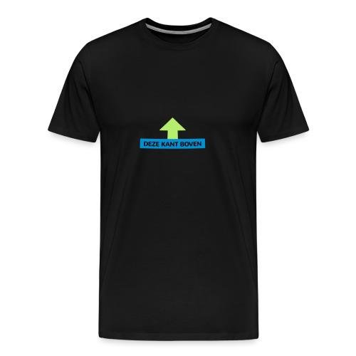 Grappige Rompertjes: Deze kant boven - Mannen Premium T-shirt