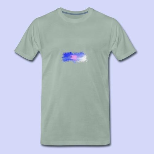 Blue lights - Female shirt - Herre premium T-shirt