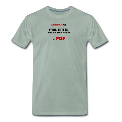 adobar un filete - Camiseta premium hombre
