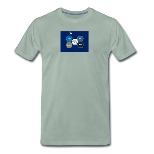 Dive_sleep_repeat_Hexagonal_v1-0_20161118 - Men's Premium T-Shirt