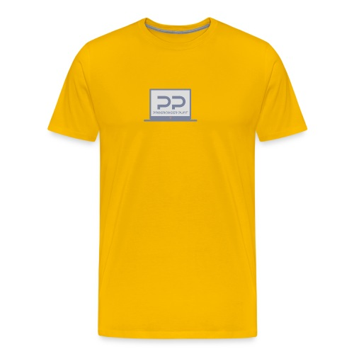 muismat met logo - Mannen Premium T-shirt