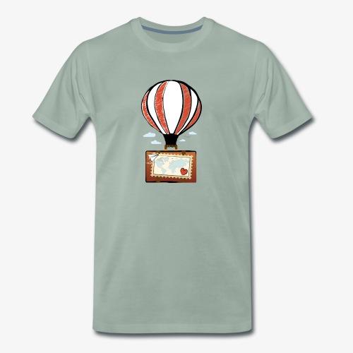 CUORE VIAGGIATORE Gadget per chi ama viaggiare - Maglietta Premium da uomo