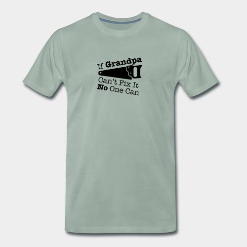 Grandpa with the saw - Herre premium T-shirt