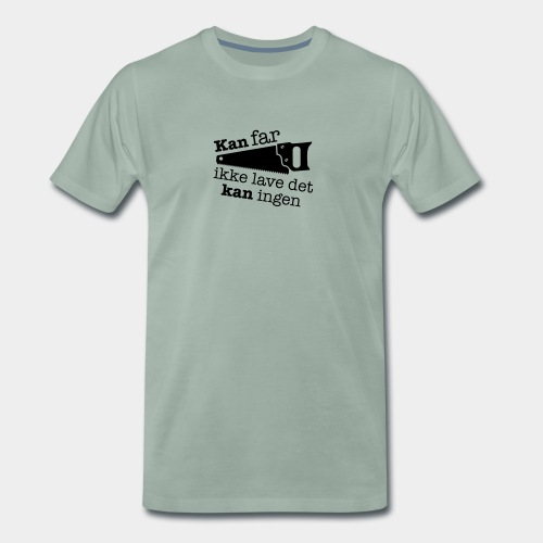 Farfar med saven - Herre premium T-shirt