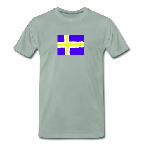 SwedishFlag Caps - Premium T-skjorte for menn