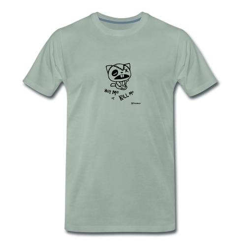 Happy tree friends Hug me or kill me - Dark cat' - T-shirt Premium Homme