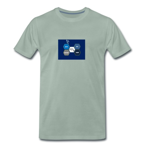 Dive_sleep_repeat_Hexagonal_v1-0_20161118 - Men's Premium T-Shirt