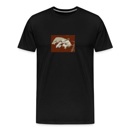 Dog speaking in phone - Premium T-skjorte for menn