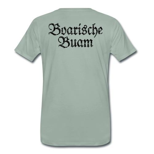 Boarische Buam Männer aus Bayern (Vintage Schwarz) - Männer Premium T-Shirt