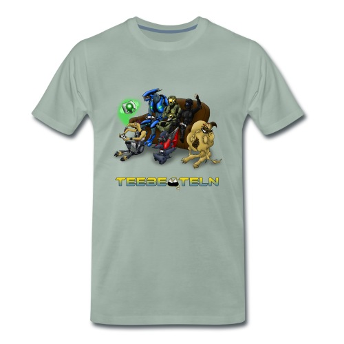 Teebeuteln Logo - Männer Premium T-Shirt