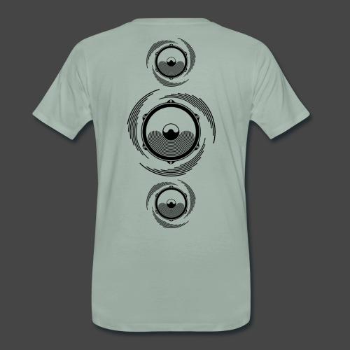 Haut-parleur Noir Spirale - T-shirt Premium Homme