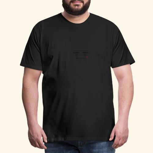 ausgeruht und nuechtern - Männer Premium T-Shirt