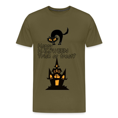 CAT LOVE CHAT AMOUR HALOWEEN - T-shirt Premium Homme
