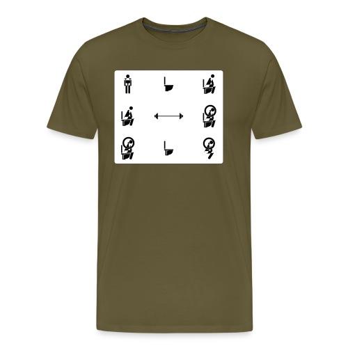 How to squat - Men's Premium T-Shirt