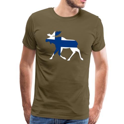 Finnland Elch - Männer Premium T-Shirt