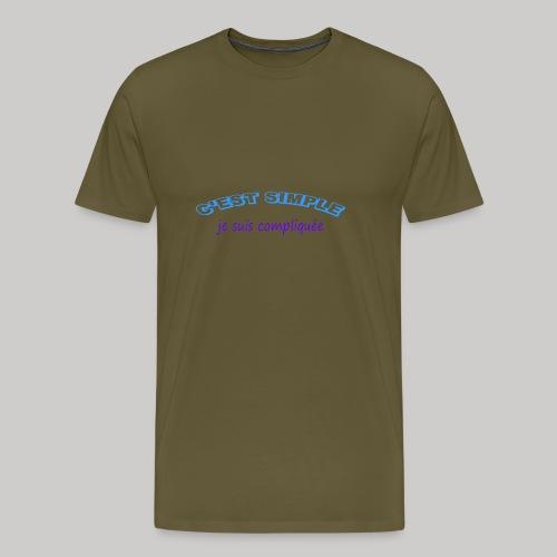 c est simple - T-shirt Premium Homme