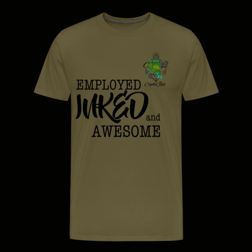 Employed inked and awesome - Männer Premium T-Shirt