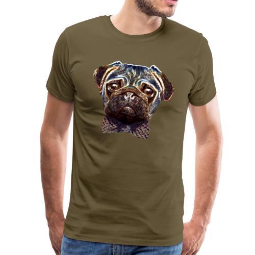 Pug with bow tie - Men's Premium T-Shirt