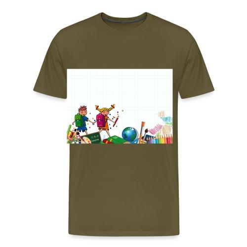 Fröhliche Schulkinder - Männer Premium T-Shirt
