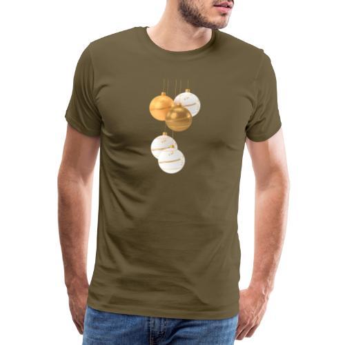 Weihnachtskugeln - Männer Premium T-Shirt