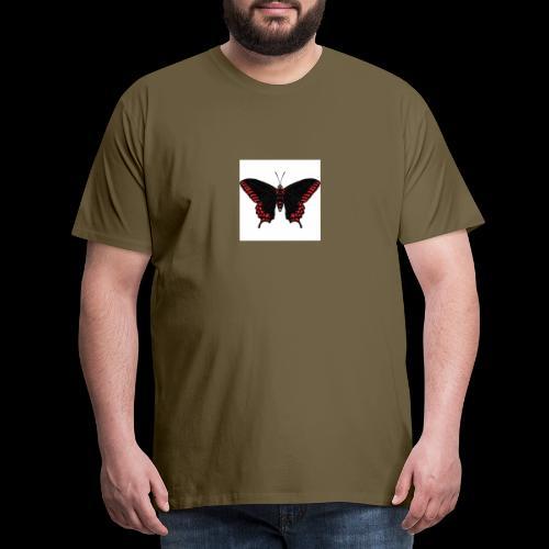 Black & Red Butterfly - Men's Premium T-Shirt