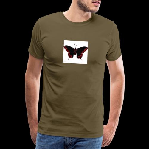 Black & Red Butterfly - Men's Premium T-Shirt