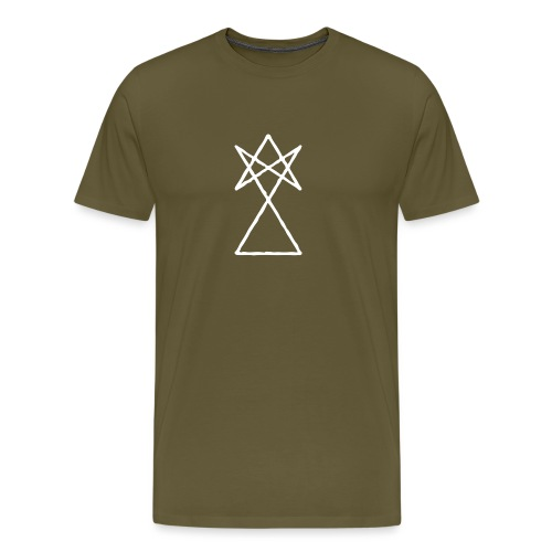 SIGNUM LOGO WHITE - Mannen Premium T-shirt