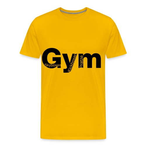 Gym Black - Männer Premium T-Shirt