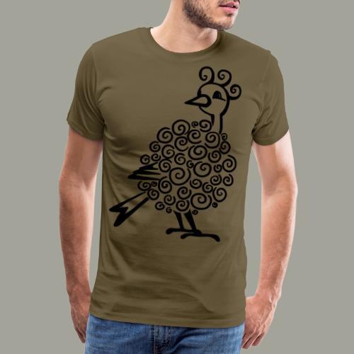zabawny ptak - czubaty kanarek - AGI - Koszulka męska Premium