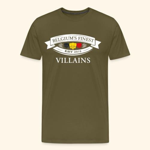 BelgiumFinestEst2015Villains white - Men's Premium T-Shirt