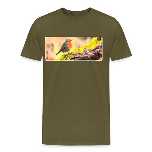 Rotkehlchen - Männer Premium T-Shirt