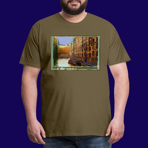 Hamburg Speicherstadt als Künstler-Impression - Männer Premium T-Shirt