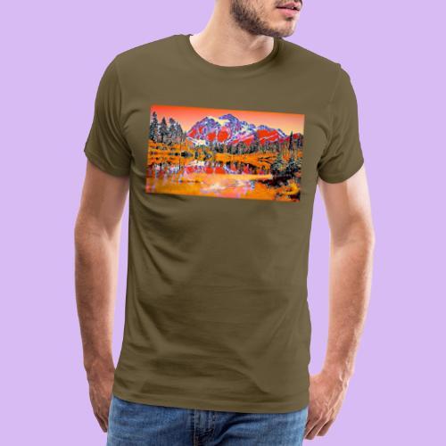 Montagne rosse punteggiate - Maglietta Premium da uomo