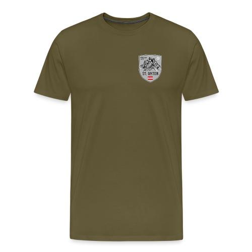 St. Anton Austria coat of arms - Men's Premium T-Shirt
