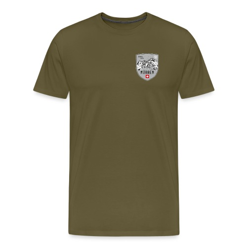 Murren Switzerland coat of arms - Men's Premium T-Shirt