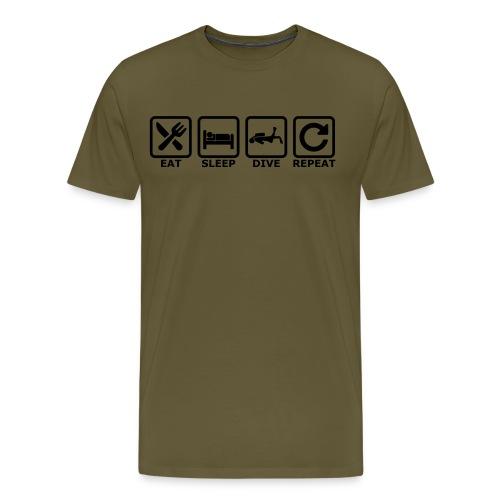 eat sleep dive repeat - Männer Premium T-Shirt
