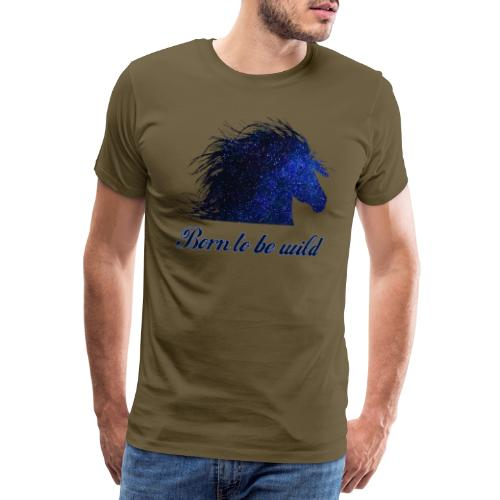 Pferd Pferdekopf Pferdesprüche Geschenk Reiterin - Männer Premium T-Shirt