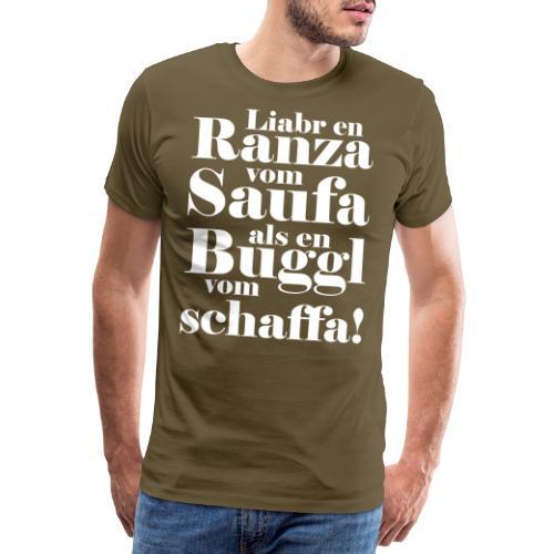 Schwäbischer Spruch Saufen Geschenk schwäbisch - Männer Premium T-Shirt