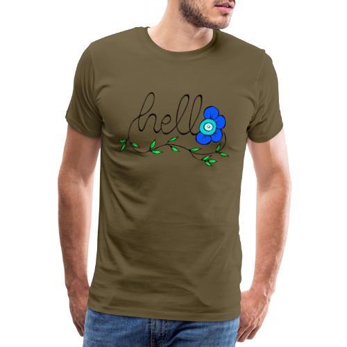 Hello Blume. - Männer Premium T-Shirt