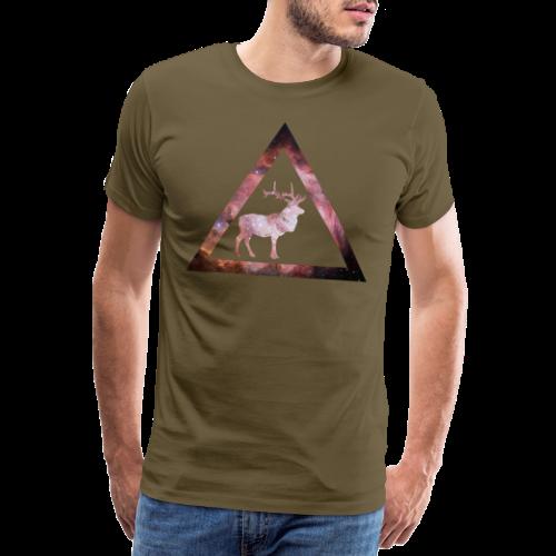 Galaxy Deer Geometry Triangle - Männer Premium T-Shirt
