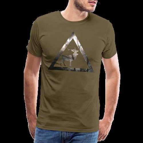 Mystical Forest Deer Triangle - Männer Premium T-Shirt