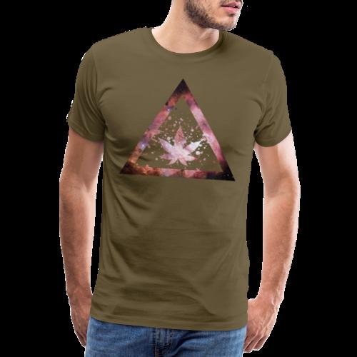 Galaxy Weed Marijuana Triangle Splashes - Männer Premium T-Shirt