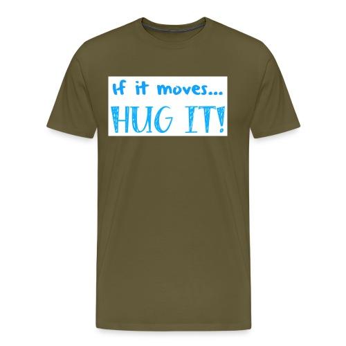 hugit light blue NOFACE png - Men's Premium T-Shirt