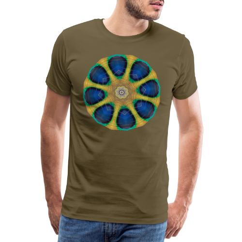 Pfau Kaleidoskop - Männer Premium T-Shirt