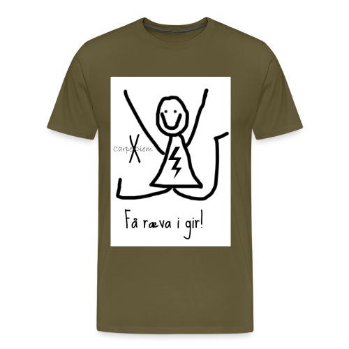 rævaigir jpg - Premium T-skjorte for menn
