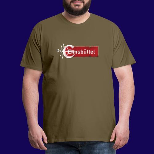 Hamburg- Eimsbüttel: Ortsschild mit Tattoo Initial - Männer Premium T-Shirt