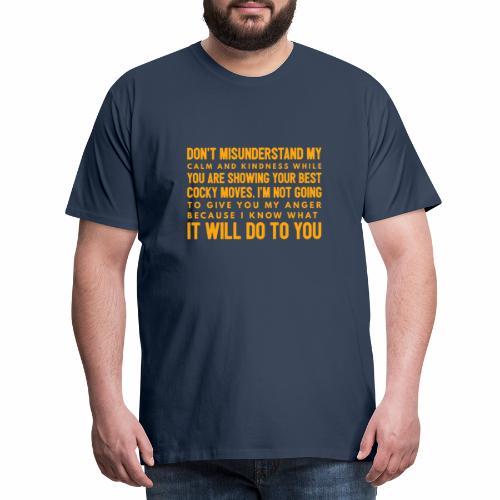 confidence - Herre premium T-shirt